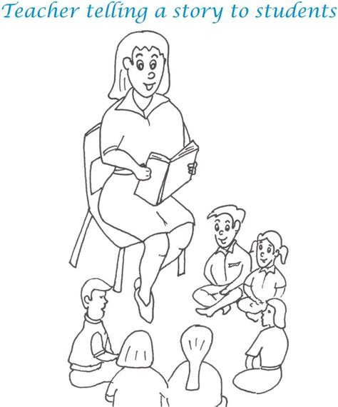 teacher s day printable coloring page for kids 10