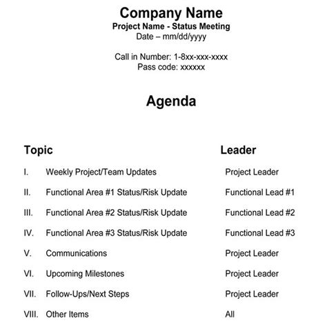 microsoft office meeting agenda template detailed meeting minutes
