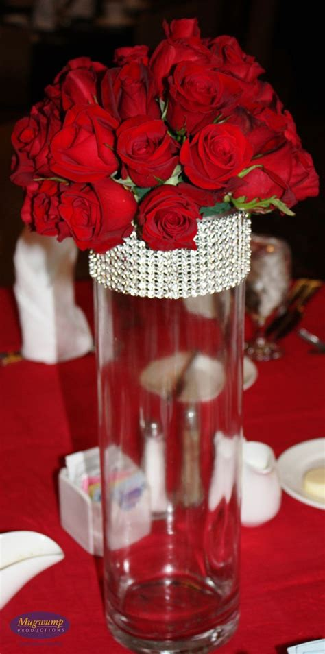 209 Best Images About Wedding Red Centerpieces On Roses Centerpiece