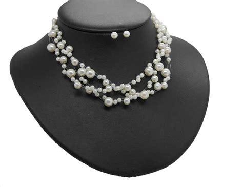 Hochzeit Set Perlen perlenkette ivory zur hochzeit g 252 nstig