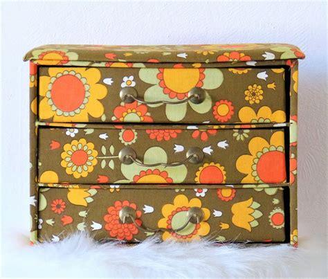 boite cartonnage tissu mercerie ancienne avec tiroirs