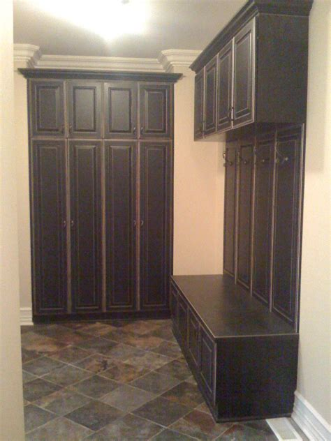mudroom cabinets how to make a mudroom bench using kitchen cabinets