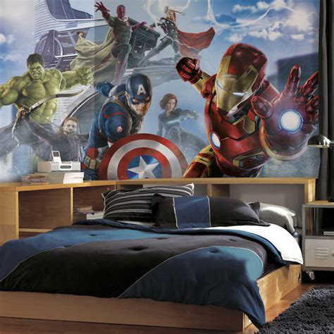 avengers bedroom accessories avengers age of ultron character xl wall mural
