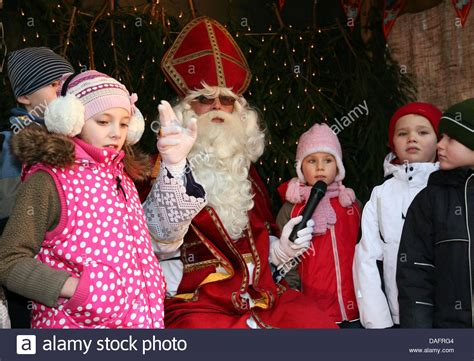 Santa Claus Sinterklas the santa claus called sinterklaas sings