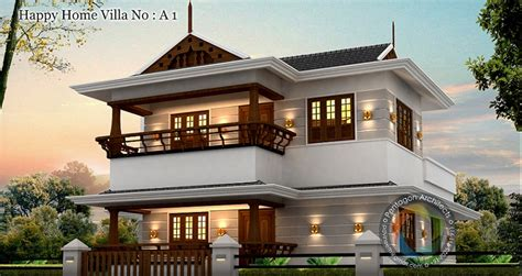 1460 sq ft floor happy home villa 1 home design