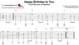 Bad Day Fingerstyle Tab Happy Birthday Fingerstyle Guitar Lesson Guitarnick