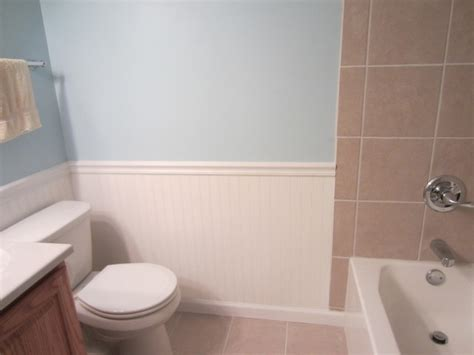 how high should wainscoting be in a bathroom beadboard wainscoting modern bathroom other metro