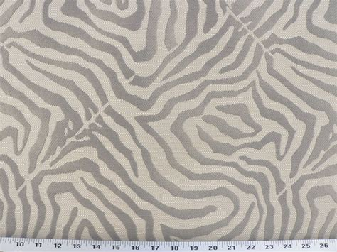 Gray Linen Upholstery Fabric by Drapery Upholstery Fabric Jaquard Zebra Design Textured