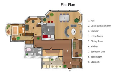 flat plans conceptdraw sles building plans floor plans
