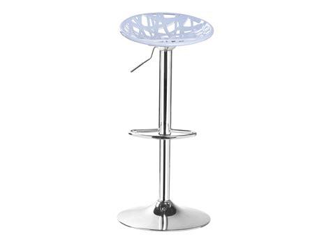 table de bar fly tabouret de bar assise grise pieds chrome tabouret