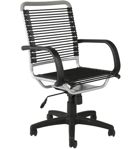 Bungee Chair Office - bungee high back office chair black and aluminum in