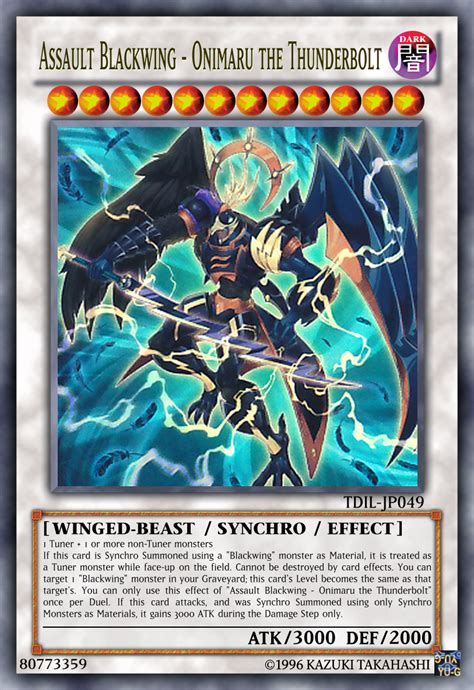 yugioh blackwing deck assault blackwing onimaru the thunderbolt by