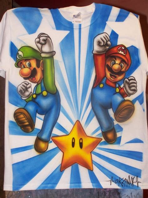 Bros Cemara 3 mario bros airbrush by okamiairbrush on deviantart