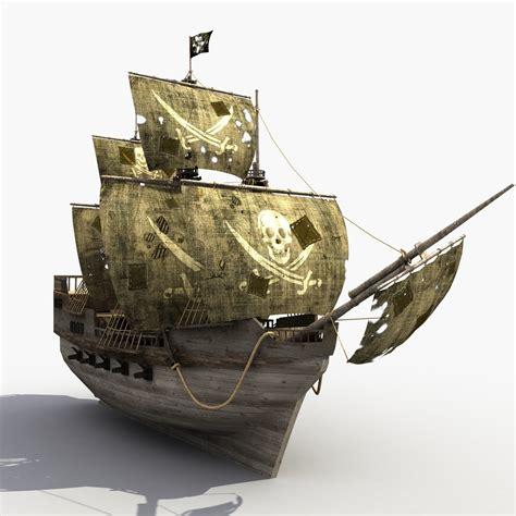 old boat models ship old pirate 3d model