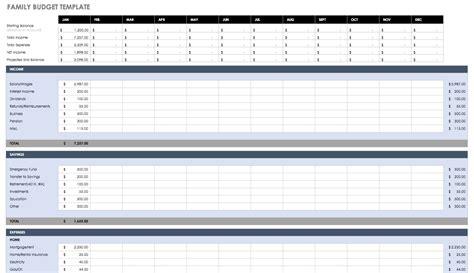 budget templates  excel smartsheet