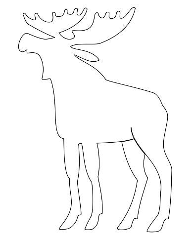 moose template image gallery moose outline