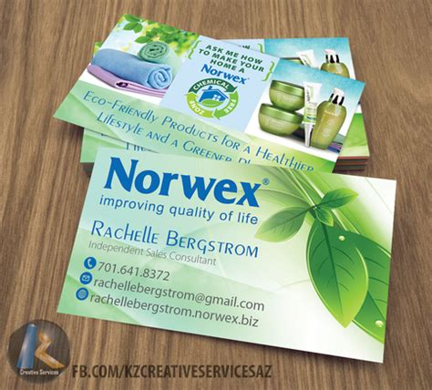 Norwex Business Card Template by Norwex Business Cards Style 1 183 Kz Creative Services