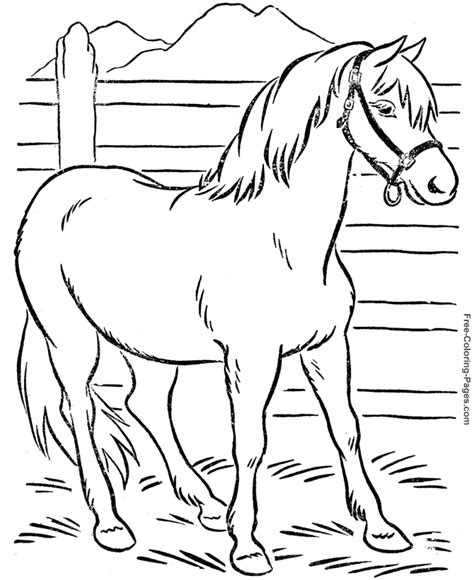 coloring book pages of horses coloring book pages of horses 011