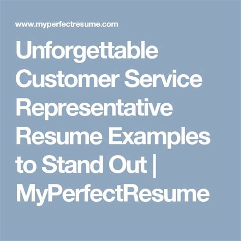 Myperfectresume Customer Service by Best 25 Customer Service Resume Exles Ideas On
