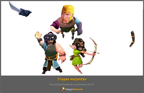 clash of clans troop characters mutant troops character clash of clans builder