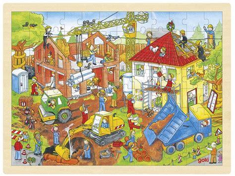 Jigsaw Puzzle 96 Keping building site puzzle