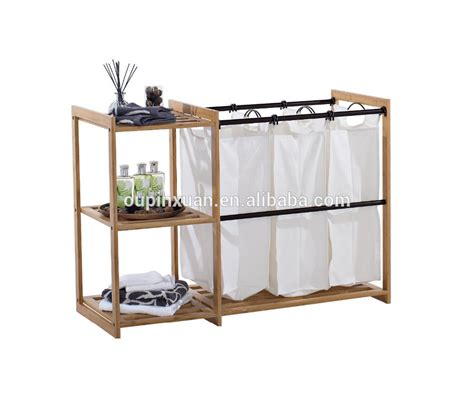 Keranjang Laundry 3 bag laundry bambu penjualan panas keranjang laundry
