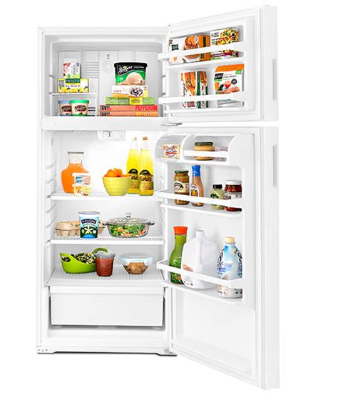 top of fridge storage 28 amana 16 cu ft top freezer refrigerator with more