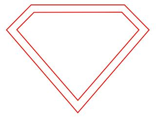 blank superman logo template how to draw the superman logo draw central