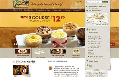 olive garden website beautiful restaurant website designs view 25 exles