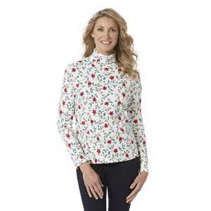 holiday editions women s turtleneck poinsettia
