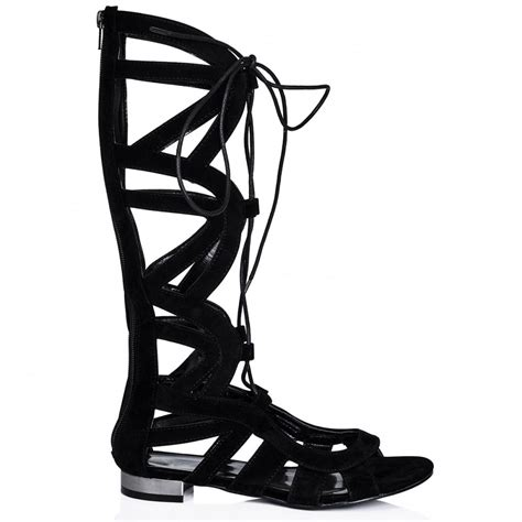 black lace up gladiator sandals lace up suede gladiator high heel sandal black gladiator