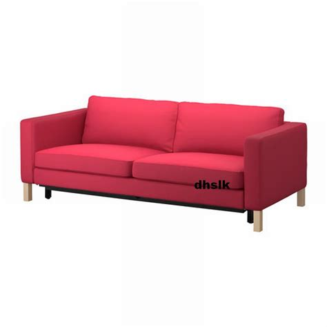 slipcovered sofa bed ikea karlstad sofa bed slipcover sofabed cover sivik pink