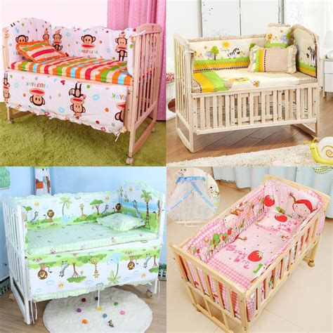 5pcs baby crib bedding set bedding set 100x58cm