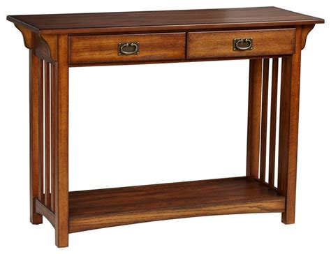 Mission Style Console Table by Shiloh Mission Style Oak Console Table Craftsman