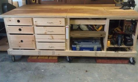 crafters diy workbench  casters