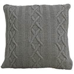22 X 22 Cushions 100 Cotton Aran Cushions Thick Amp Large Knitted Cushion