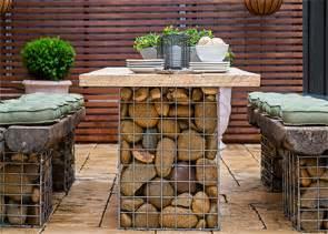 Patio Ideas For Backyard On A Budget Home Dzine Garden Gabion Style Outdoor Table Set