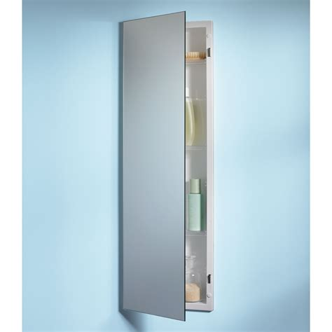 Jensen Medicine Cabinet Pillar 12W x 36H in. Recessed Medicine Cabinet 735M34WH Medicine