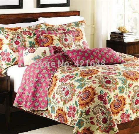 mediterranean style bedding free shipping american country style 100 cotton 3 pcs