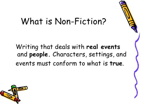 non fiction characteristics of non fiction text