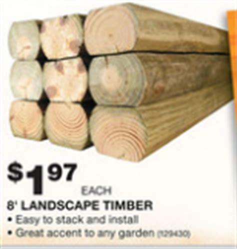 Landscape Timbers Huntsville Al Home Depot Landscape Timbers 8 Ft 1 97 Ends Wednesday