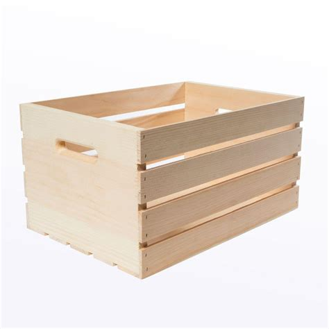 Home Depot Small Wood Box Crates Pallet 18 In X 12 5 In X 9 5 In Large Wood