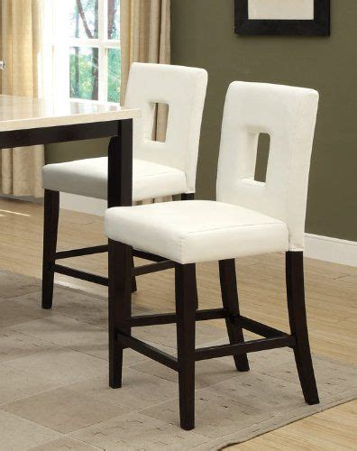 Leather Parson Bar Stools by White Leather Counter Height Stools Set Of 2 Parson High