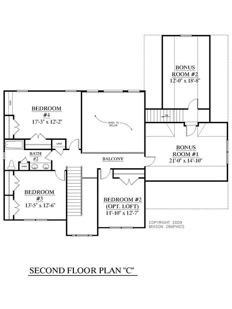 4 bedroom house plans with bonus room house plan 2657 c longcreek quot c quot second floor traditional