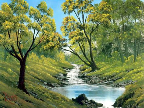 bob ross painting landscape colorful landscape paintings by bob ross from america