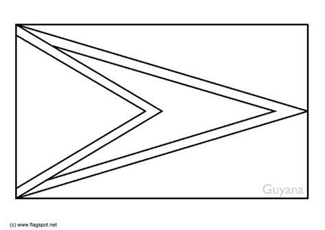 coloring page flag guyana img 6355