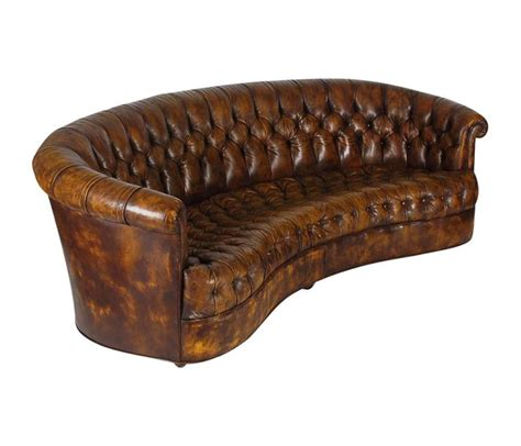 Vintage Chesterfield Sofa With Original Brown Leather For Original Chesterfield Sofa