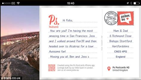 Who Sent The Postcard In Or Ps Postcards App Lets You Send Postcard Without Going Near