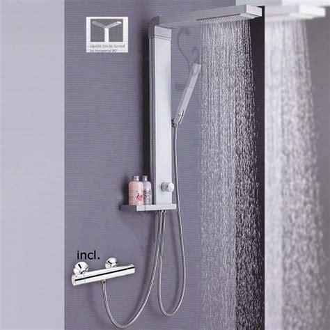 termostato doccia alluminio colonna doccia di pioggia miscelatore termostato