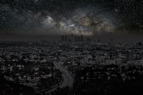 what would the sky look like in major cities without